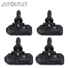 AUTOUTLET 4 Pcs 68249197AA 68239720AA TPMS Tire Pressure Monitoring Sensors 434MHz For 2014 2018 JEEP CHEROKEE