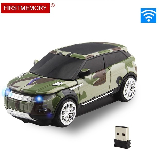 2.4Ghz Wireless Mouse New Camo Cool Car Shape Mice USB Receiver Computer Gaming 3D Optical Mause For PC Laptop Macbook Pro