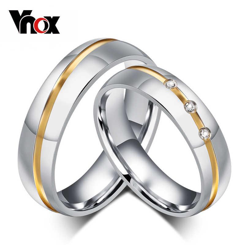 10 ชิ้น/ล็อตขายส่งคู่แต่งงานแหวนผู้หญิงผู้ชายเครื่องประดับสแตนเลสให้ขนาดผสม