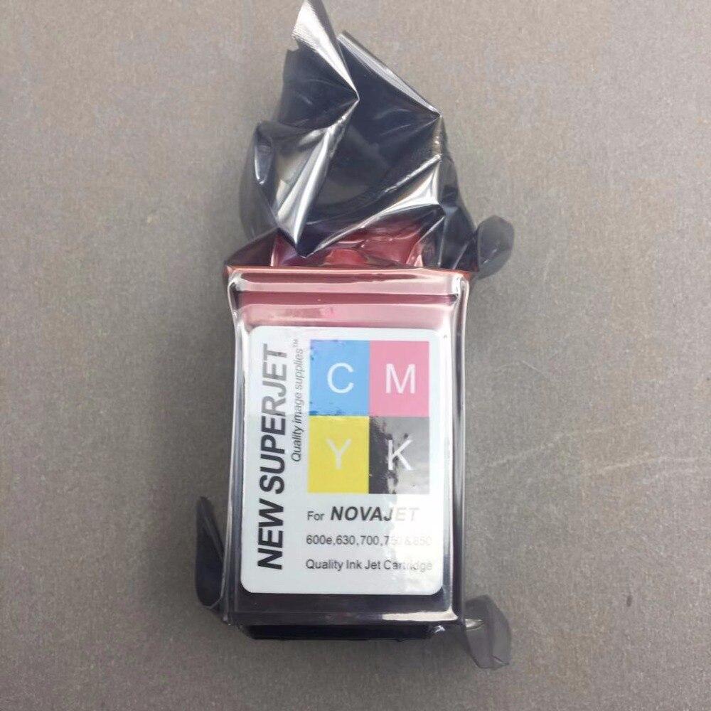 4 PCS CMYK cartucho de Tinta Da Impressora para lecai encad novajet 750 505 600 630 500 736 750 850 880 cabeça de impressão cabeça de impressão 600 DPI