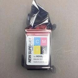 4 pçs cmyk impressora cartucho de tinta para lecai encad novajet 750 505 600 630 500 736 750 850 880 cabeça impressão 600 dpi