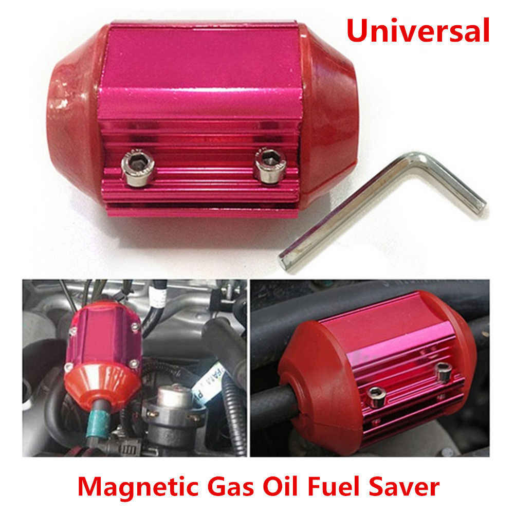 1PCS Red Car Metal Fuel Saver Device Magnetic Gas Oil Saving Device Universal 100% Brand new and high quality