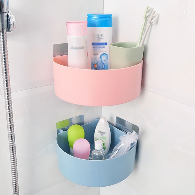 Bathroom Shelf Adhesive Lightweight Multi-functional Organizer Storage Commodity Shelf Rack For Bathrooms Balcony Kitchen Home Improvement