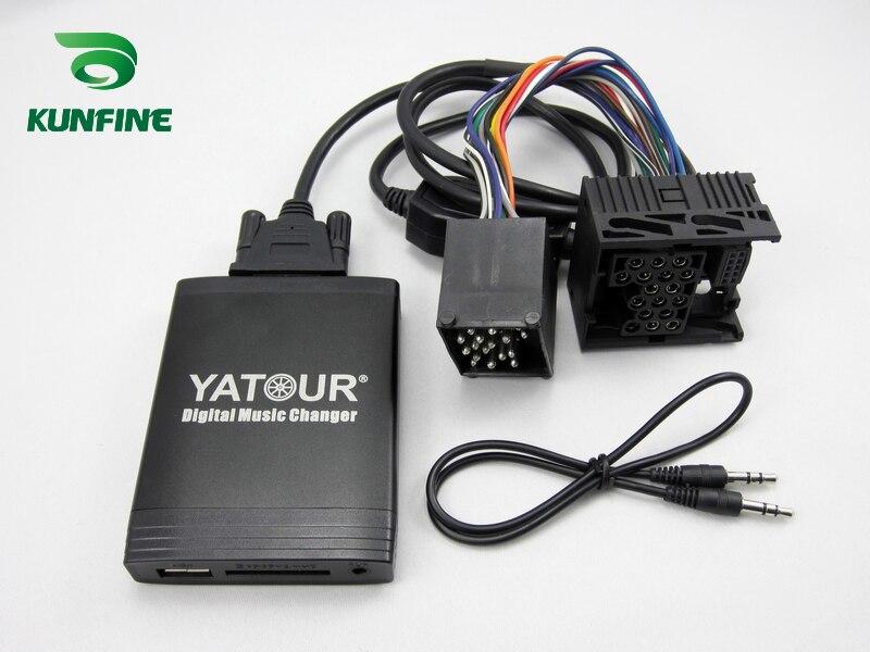 Автомобиль цифровой музыкальный чейнджер адаптер USB SD