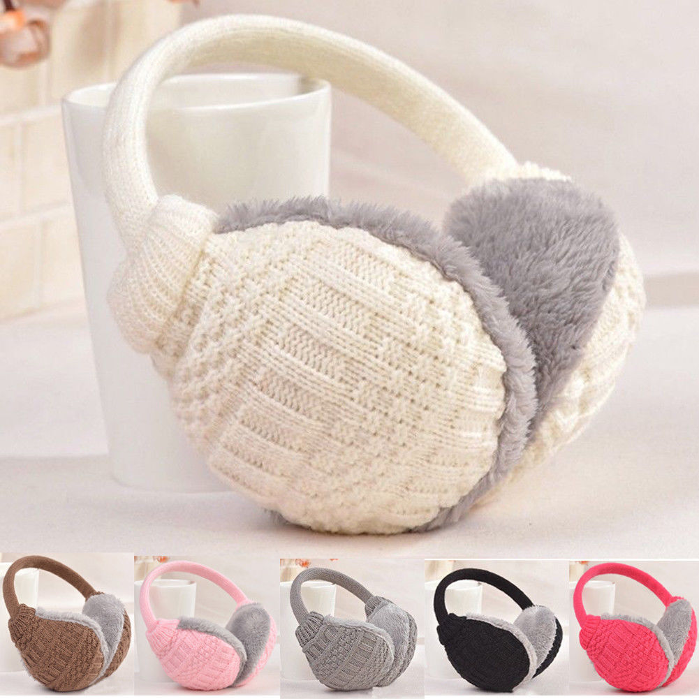 New Fashion Winter Warm Knitted Earmuffs Ear Warmers Fashion Women Girls Ear Muffs Earlap Plush Knit Solid Ear Protect