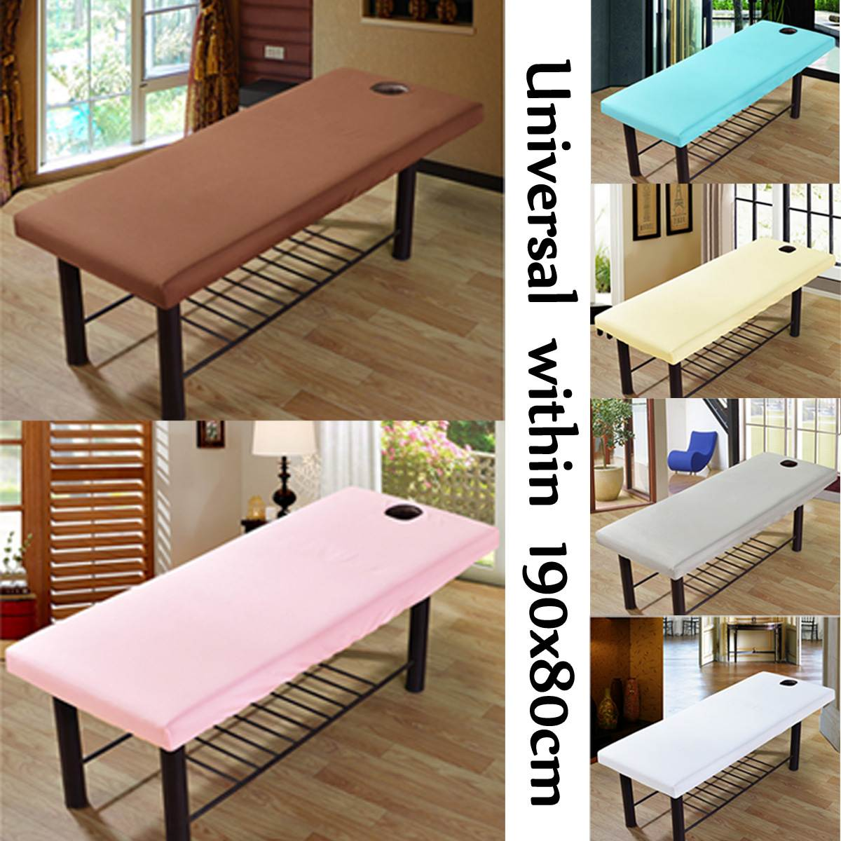 Soft Polyester Massage Bed Cover Beauty Salon Massage Sheet Body SPA Treatment Relaxation Bedsheet With Face Breath Hole 2