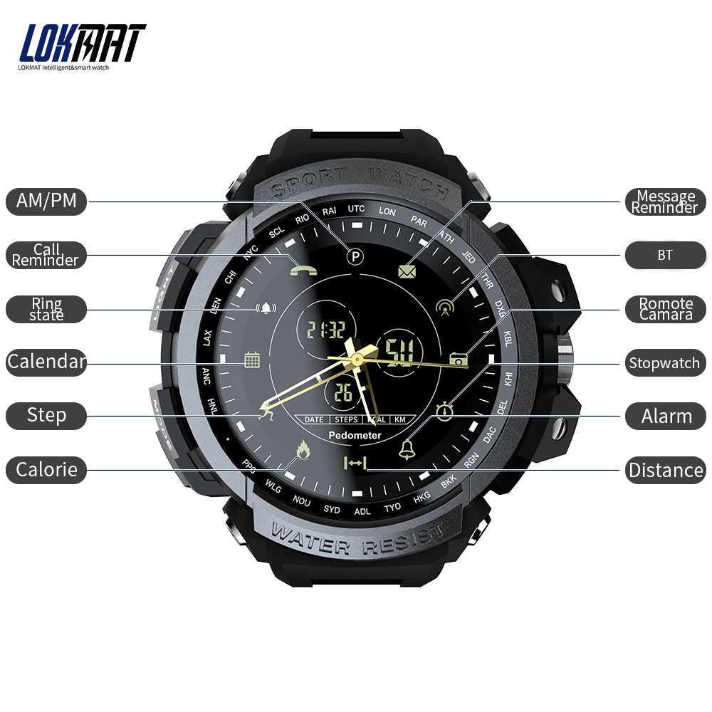 Recordatorio Mk28 Resistente Agua Llamada Lokmat Bt 5 Inteligente Al Reloj Espera Digital Para Atm Deporte 1 Año De lTK1FJc3