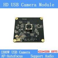 Câmera de CCTV HD 1300 W SONY IMX214 física pura perto de nível industrial remoto Autofoco AF 10FPS módulo da câmera do USB apoio áudio|Câmeras de vigilância| |  -