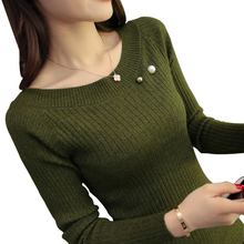 Sueter Mujeres 2018 Fashion O Neck Ribbed Knit Sweater Soft Stretch Women Pullover Slim Tight Short Sweaters Winter Pull femme
