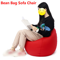 60*70cm Lazy Bean Bag Sofa Chair Linen Cloth Lounger Seat Couch Bean Bag Pouf Puff Couch Tatami Living Room for Kids Adults