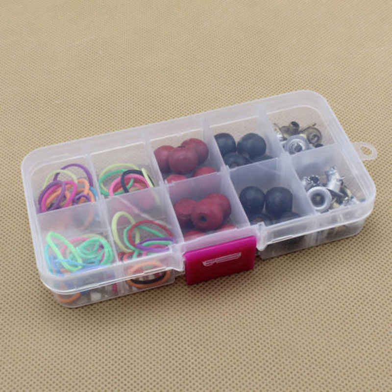 10 Compartments Plastic Box For Jewelry Display Bead Storage Container Craft Organizer Case Practical Adjustable Storage Box