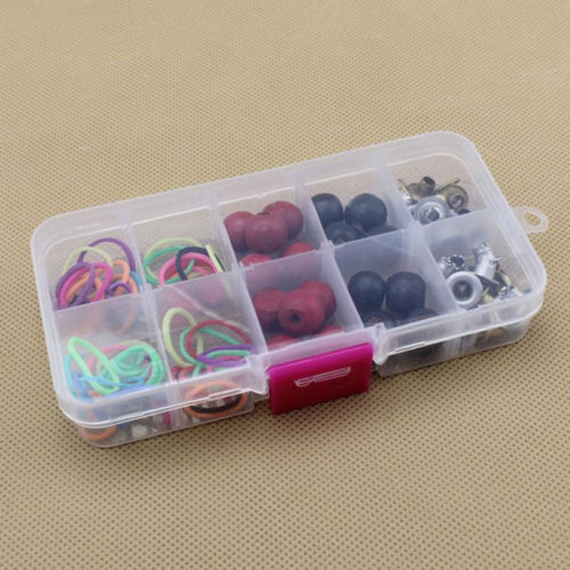 10 отсеков пластиковая коробка для ювелирных изделий дисплей контейнер для хранения бисера Ремесло Органайзер чехол практичный Регулируем...