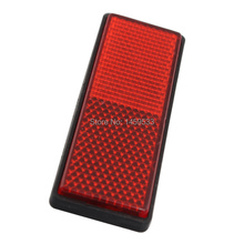 цены Red Motorcycle Safety Reflector Rear Tail Brake Stop Marker Light Car Truck Trailer Universal New 88x32mm