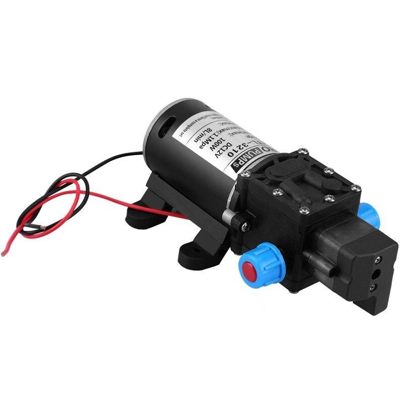 12V 100W High Pressure Self Priming Water Pump 160Psi 8Lpm Caravan Camping Boat|Water Pumps| |  - title=