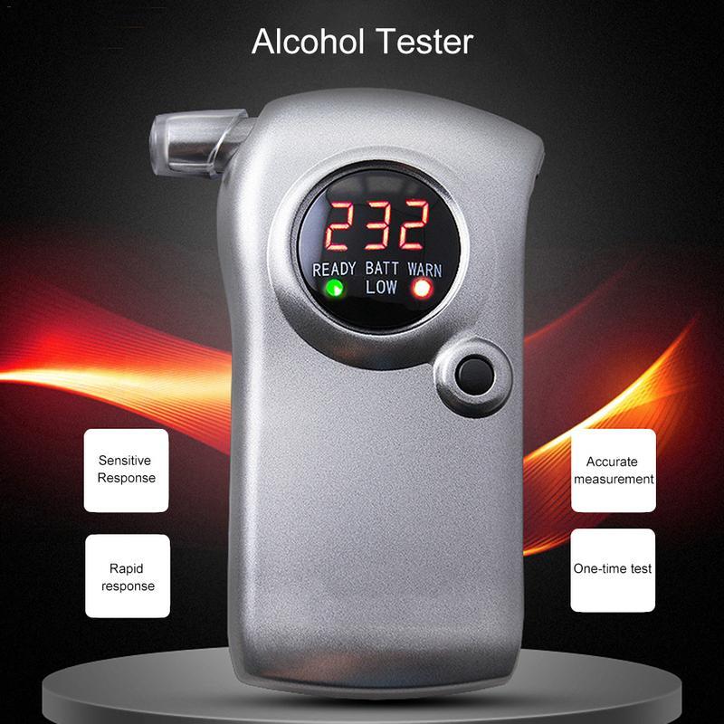 Testeur d'alcool à affichage de LED soufflant Type Dine densité du conducteur Machine spéciale batterie alcaline 9 V intégrée