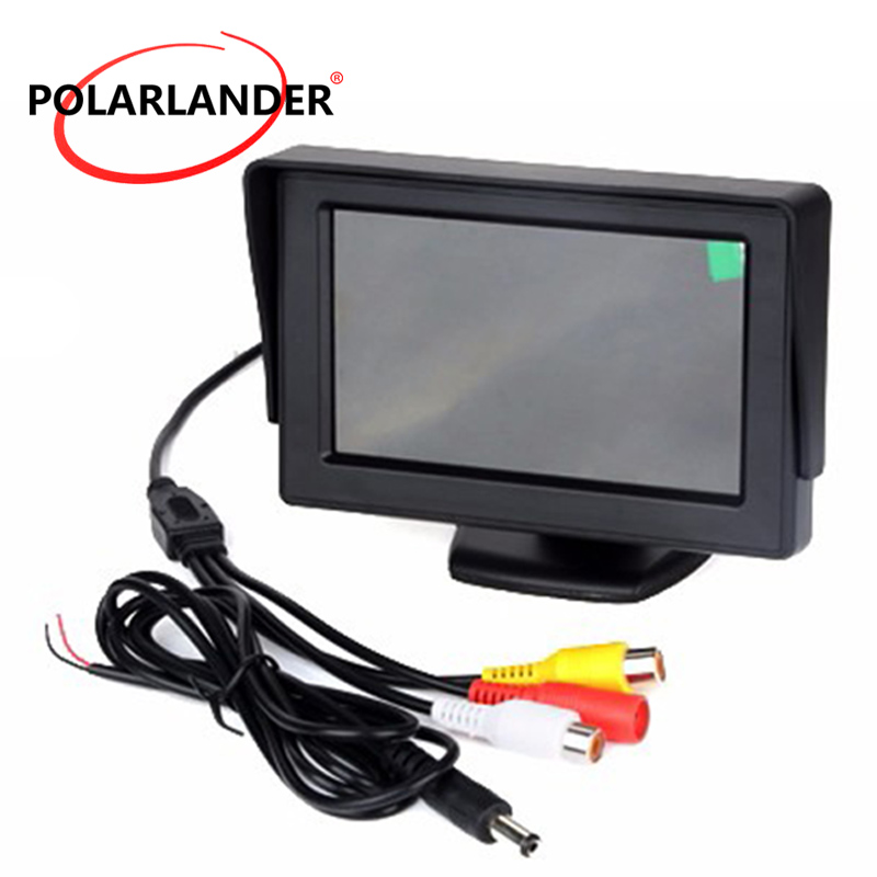 <font><b>4.3</b></font> <font><b>Inch</b></font> color TFT LCD Car <font><b>Monitor</b></font> With 2Ch Video Input For Rear View Camera Or DVD reverse priority image