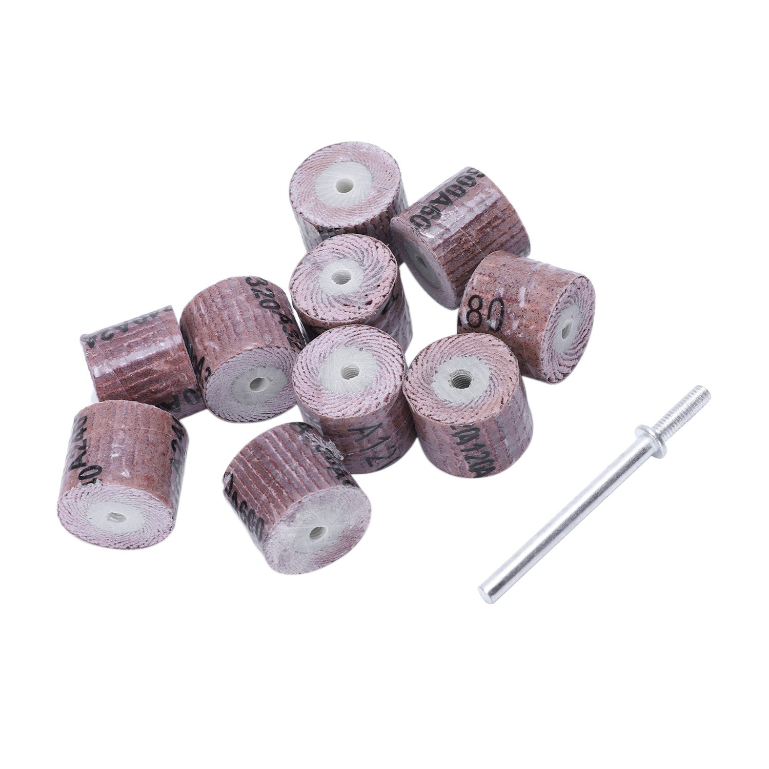 10Pcs 15Mm Sanding Band Wheel Disc 80/120/240/320/600 Grit Rotarytools For Dremel Rotary Mini Drill Polish Tool