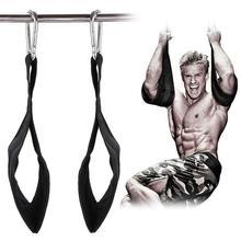 1 пара Тренажерный зал висит бретели для нижнего белья тяжёлая атлетика Pull Up Бар брюшной Упражнения Фитнес Топ брюшной ремни тренировки
