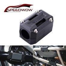 SPEEDWOW 22-28mm Motorcycle Engine Crash Bar Protection Bumper Decorative Guard Block For BMW HONDA
