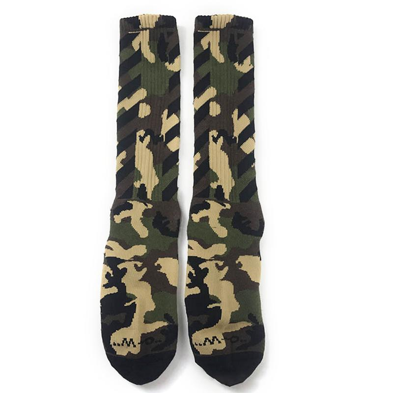 Autumn And Winter New Camouflage Harajuku Port Wind Socks Tide Brand Skateboard Socks Cotton Men And Women Couples In The Tube Underwear & Sleepwears