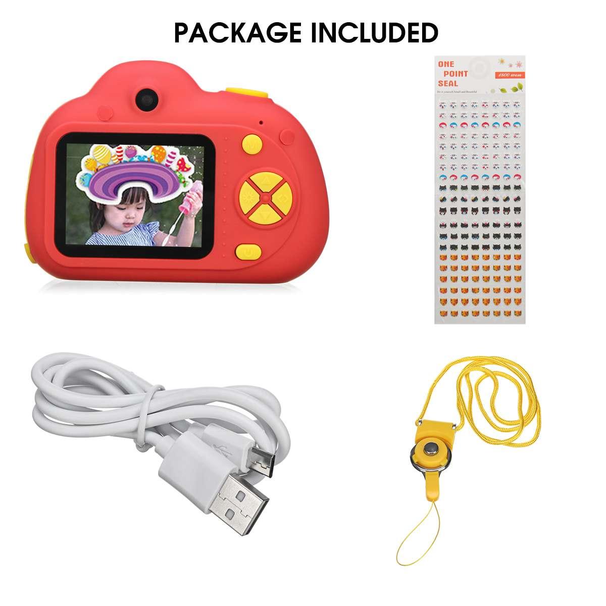 D6 2 ''HD numérique Micro enfants caméra Mini enfants caméra 800 W 120 ° grand Angle reconnaissance du visage Photo vidéo jouet caméra - 4