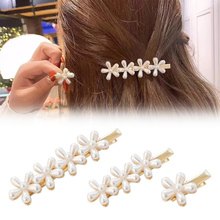 Sale 1PC Vintage Flower Barrette Bride Hair Clips For Women Wedding Elegant Girls Pearl Hairpin Fashion