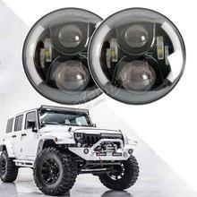2x60W offroad LED headlight 7inch headlam Speakers high power drivving sealed lamp for JK CJ TJ 4x4 truck Land Rover Lada niva