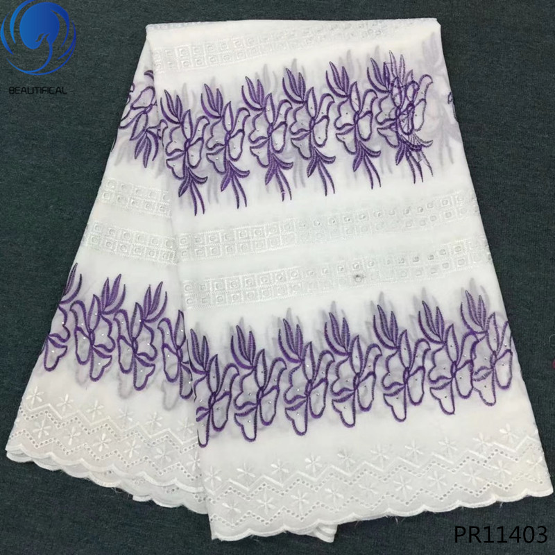 BEAUTIFICAL 2019 latest nigeria voile swiss lace cotton fabric dry lace high quality swiss voile lace PR114BEAUTIFICAL 2019 latest nigeria voile swiss lace cotton fabric dry lace high quality swiss voile lace PR114