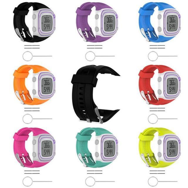 For Garmin Sports Watch Silicone Watch Strap For Garmin Forerunner 10 15 GPS Running Watch Small / Large With Tools High Quality