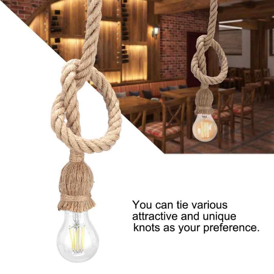 Штуцер E27 основание светильника 1 м пеньковая веревка шнур свет держатель база электрический провод DIY кулон декоративная лампочка держатель дома Применение