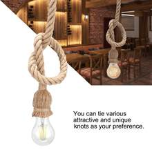 fitting E27 Lamp Base 1m Hemp Rope Cord Light Holder Base Electric Wire DIY Pendant Decorative Bulb Holder Home Use(China)