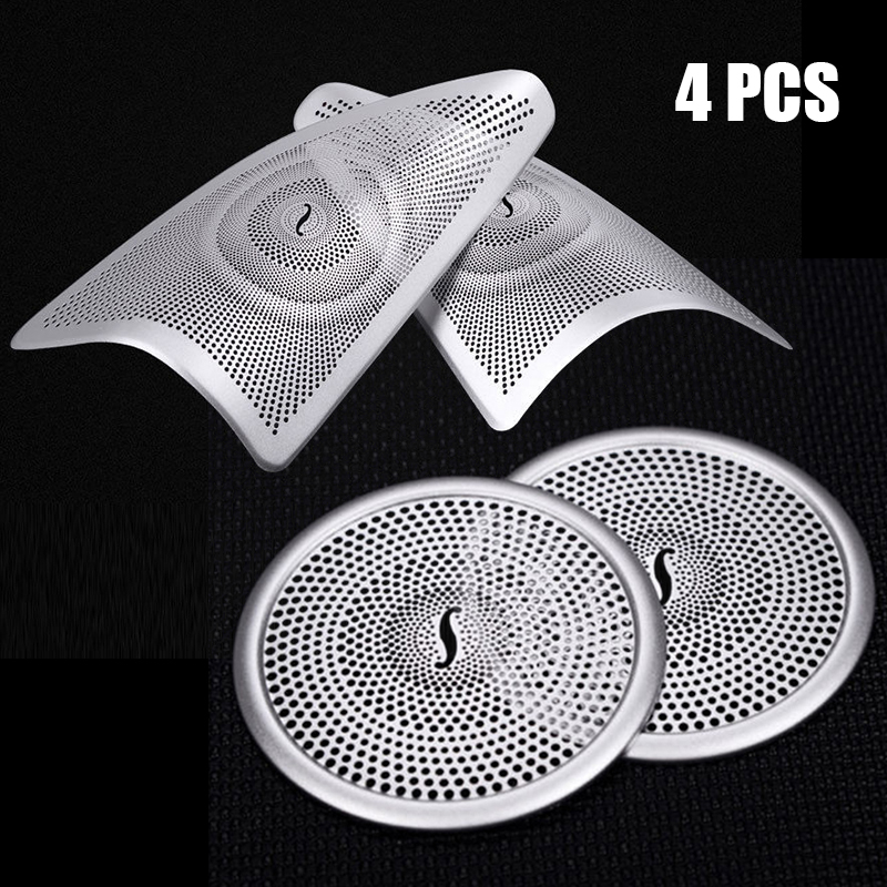 Front+R Car Door Speaker Sound Cover Decorations Loudspeaker Trims Car Accessories For Mercedes Benz W166 ML X166 GL CLass GLE