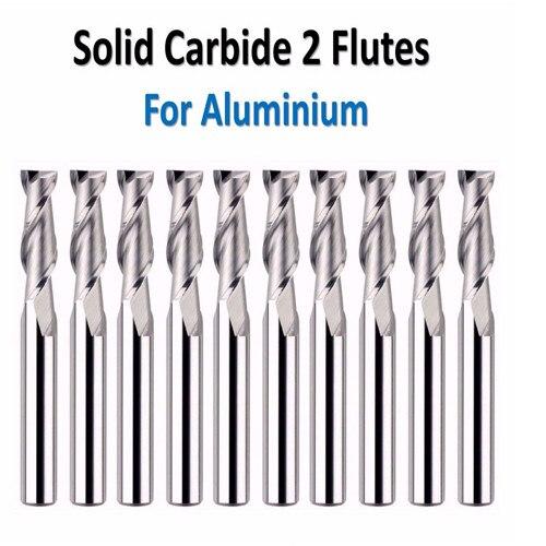 JF 20pcs set D3 175 8 D3 175 50 2T 45HRC 2 Flutes for Aluminium 45