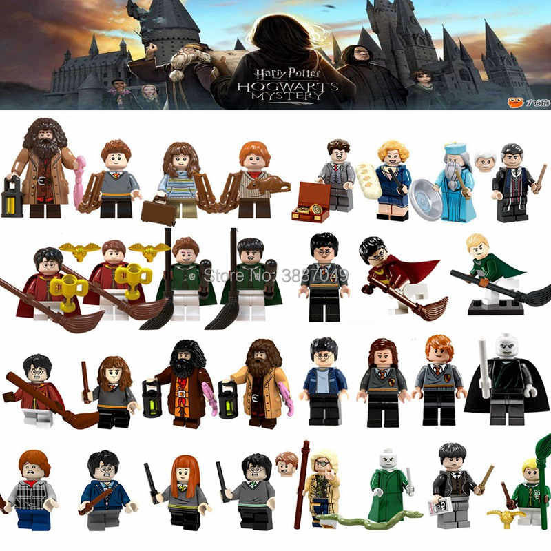 Legoings Harry Potter Fantastic Beasts Rubeus Hagrid Seamus Finnigan Hermione Ron Oliver Model Building Kits Toys For Children