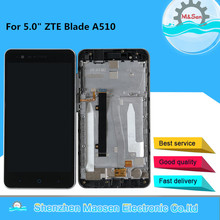 """M&Sen 5.0"""" For ZTE Blade A510 LCD Screen Display With Frame+Touch Screen Panel Digitizer For ZTE A510 Display Frame Assembly"""