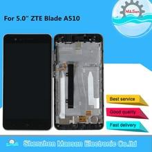 "M & Sen 5.0 ""ZTE A510 디스플레이 프레임 어셈블리 용 프레임 + 터치 스크린 패널 디지타이저가있는 ZTE 블레이드 A510 LCD 스크린 디스플레이 용"