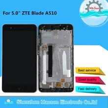 """M & Sen 5.0 """"pour ZTE Blade A510 LCD écran daffichage avec cadre + écran tactile panneau numériseur pour ZTE A510 affichage cadre assemblage"""