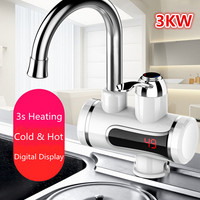 Bathroom Kitchen Basin Quickly Heating Sink Spout Solid Faucets Lead Free Mixer Cold and Hot Taps Single Lever Hole Water Taps