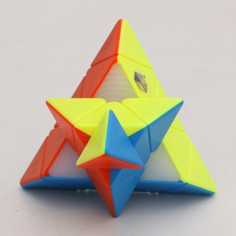 Dapper Yu Xin Volledige Hersenen Piramide Kubus Speciale-vormige Magic Neo Cube Candy Kleur Educatief Speelgoed Voor Kinderen Fidget Spinner Moondrop Voldoende Aanbod