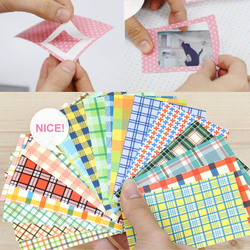 Colorful 20 Sheets Craft Paper Scrapbooking Gift Photo Decoration Stickers Polaroid Masking Craft Tape Paper Washi