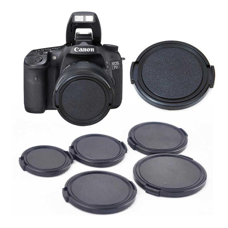 EDMTON 77mm Center Pinch Snap-on Front Lens Cap cho máy ảnh Ống Kính cho canon sony nikon