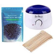 Depilation Beauty Hands 220-240V Electric Hair Removal Bean Wiping Sticks Hot Wax Warmer Heater Pot Depilatory Set Machine