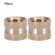 10 шт./компл. M10* 10L* 12 мм латунь цилиндр с накаткой круглый Литой-вставка врезанные гайки