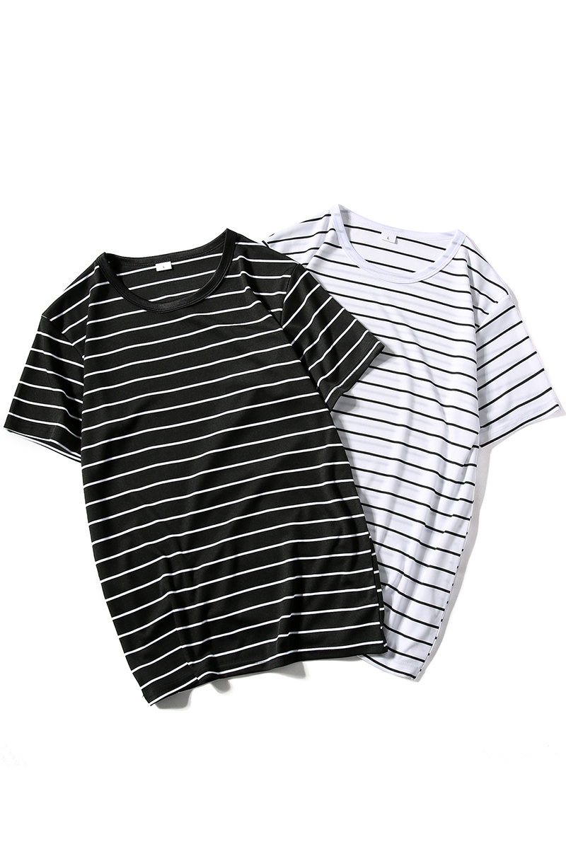 Brand Fashion New summer top Pure Cotton Lovers Stripe Man Round Neck Short Sleeve T shirt plus size Hot Sale in T Shirts from Women 39 s Clothing