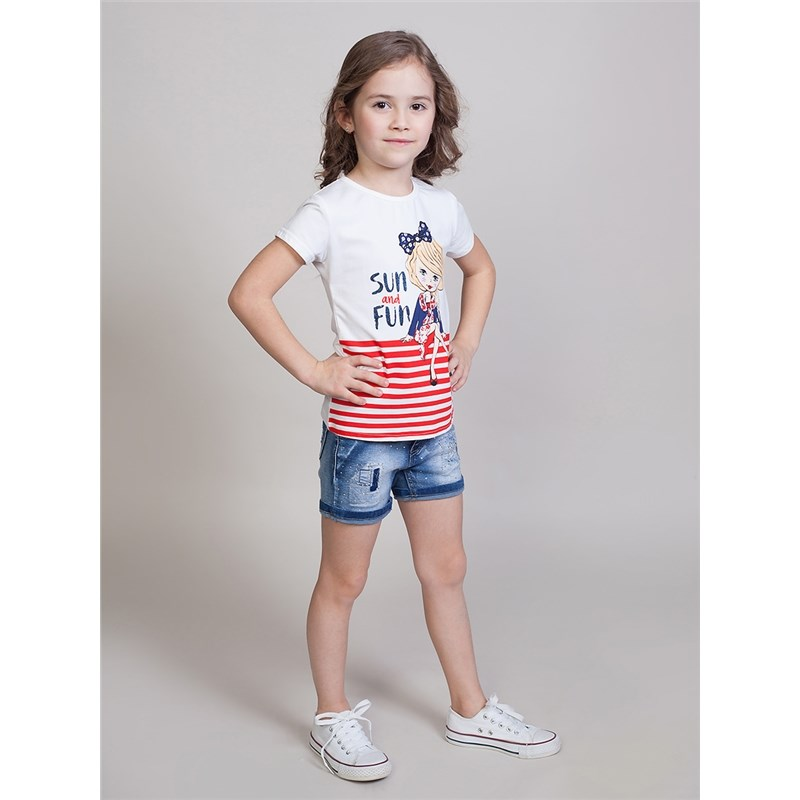 Shorts Sweet Berry Girls denim shorts children clothing roll up denim shorts