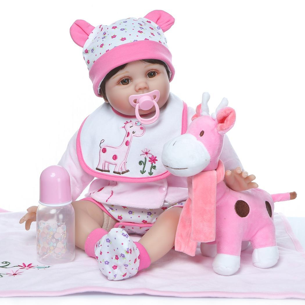 Kids Soft Silicone Realistic With Clothes Reborn Baby Doll Opened Eyes 2-4Years Collectibles, Gift, PlaymateKids Soft Silicone Realistic With Clothes Reborn Baby Doll Opened Eyes 2-4Years Collectibles, Gift, Playmate