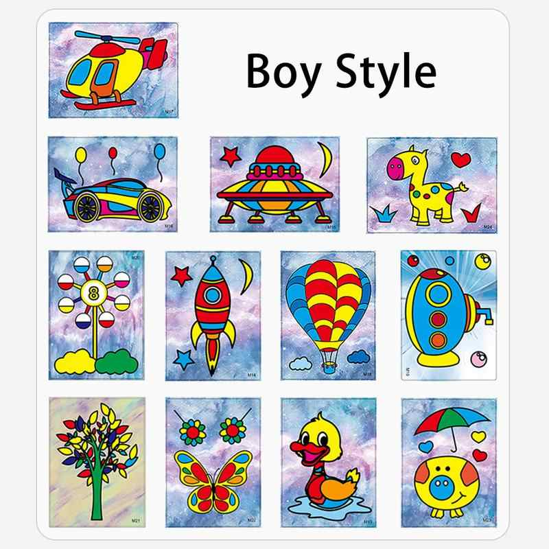 Детский песка картины комплект Рисование сухим песком Цвет песок мальчик девочка игрушка детский сад головоломки ручной Песочная картина Таблица