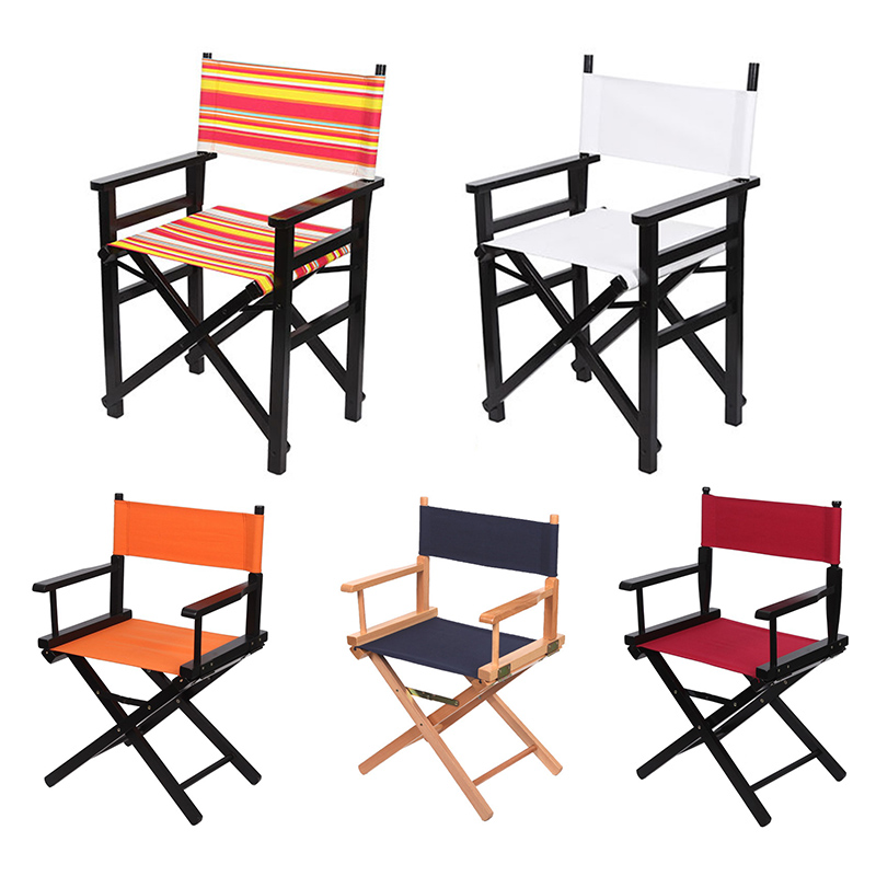 Folding Canvas Beach Chair Seat Covers Outdoor Portable Camping Chair For Hiking Fishing Picnic Barbecue Garden Chairs