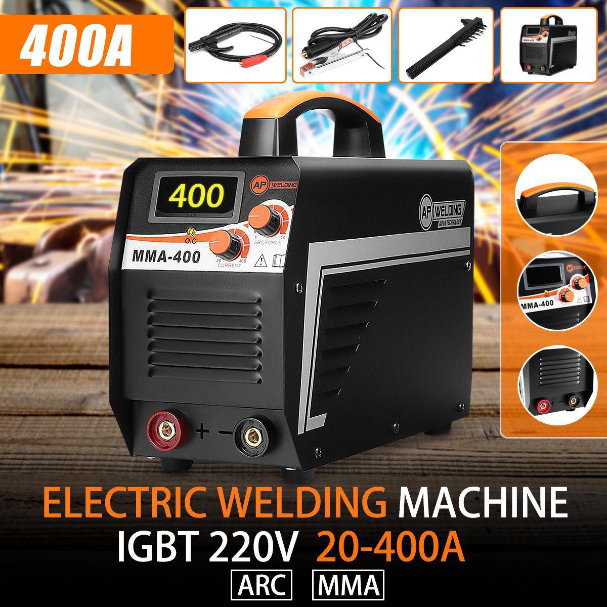 220V IGBT Inverter Arc Electric Welding Machine Digital Display MMA 400 Arc Stick Welders Set Home Welding Working Power Tools