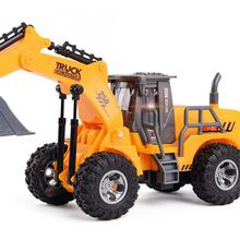 все цены на Remote Control Car MGRC 5 Channel Wireless RC 1:30 Truck Engineering Mining Bulldozer Construction Vehicle Electric Model Toy fo онлайн
